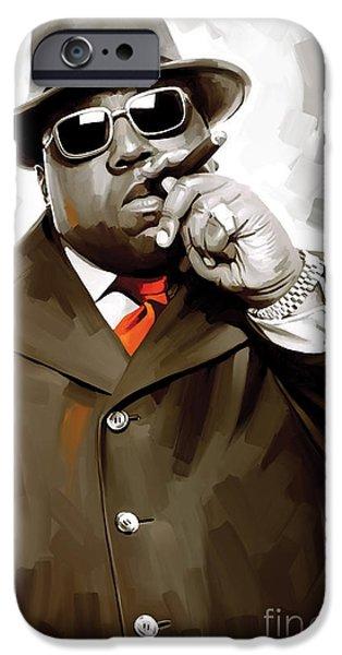 Notorious Big - Biggie Smalls Artwork 3 IPhone Case by Sheraz A