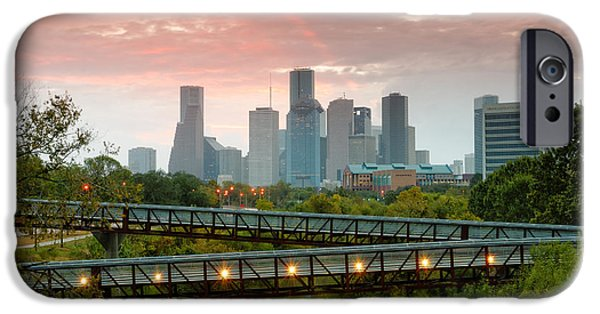 November Sunrise In Downtown Houston IPhone Case by Silvio Ligutti