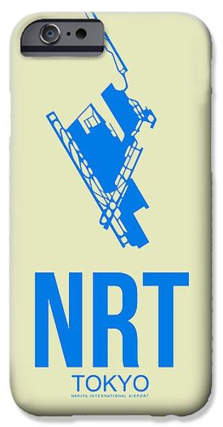 Nrt Tokyo Airport Poster 3 IPhone Case by Naxart Studio