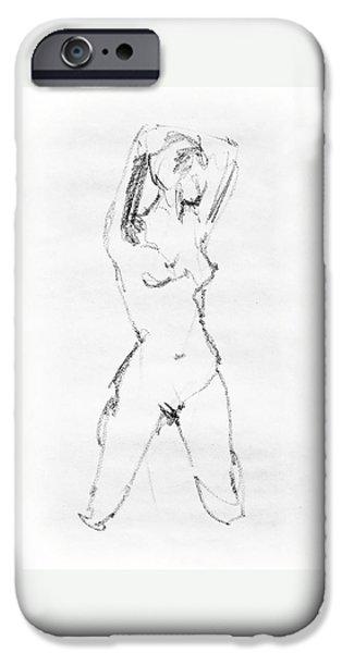 Nude Model Gesture Vii IPhone Case by Irina Sztukowski