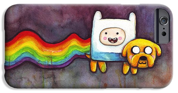 Nyan Time IPhone Case by Olga Shvartsur