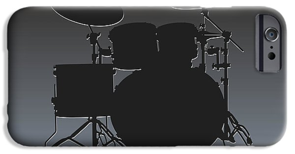 Oakland Raiders Drum Set IPhone Case by Joe Hamilton