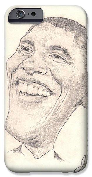 Obama Caricature IPhone Case by Joshua Alexander