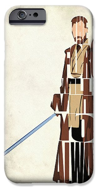 Obi-wan Kenobi - Ewan Mcgregor IPhone Case by Ayse Deniz