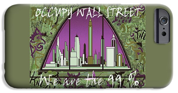 Occupy Wall Street 99 Percent - Graffiti Art Poster IPhone Case by Art America Online Gallery
