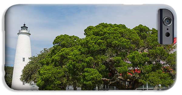 Ocracoke Lighthouse And Light Keeper's House IPhone Case by Kay Pickens