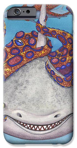 Octopied IPhone Case by Catherine G McElroy