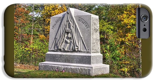 Ohio At Gettysburg - 29th Ohio Volunteer Infantry Autumn Mid-afternoon Culp's Hill IPhone Case by Michael Mazaika