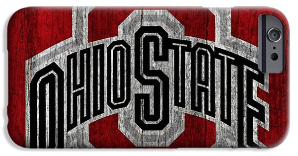 Ohio State University On Worn Wood IPhone 6s Case by Dan Sproul