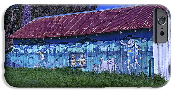 Old Barn Mural IPhone Case by Garry Gay