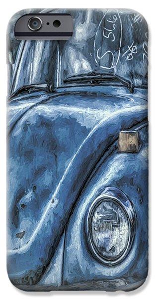 Old Blue Bug IPhone Case by Jean OKeeffe Macro Abundance Art