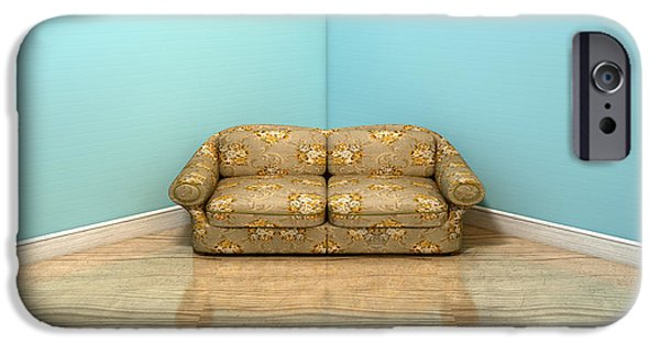 Old Classic Sofa In A Room IPhone Case by Allan Swart