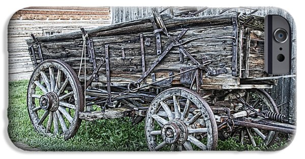 Old Freight Wagon - Montana Territory IPhone Case by Daniel Hagerman