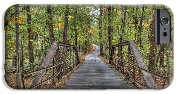 Old Iron Bridge At Panther Creek IPhone Case by Wendell Thompson