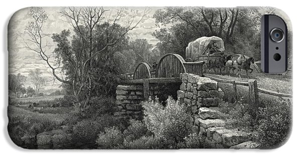 Old Mill Stream 1883 IPhone Case by Padre Art