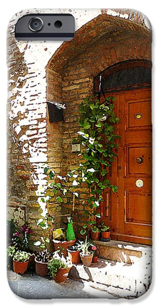 Old Streets Of Tuscany San Gimignano IPhone Case by Irina Sztukowski