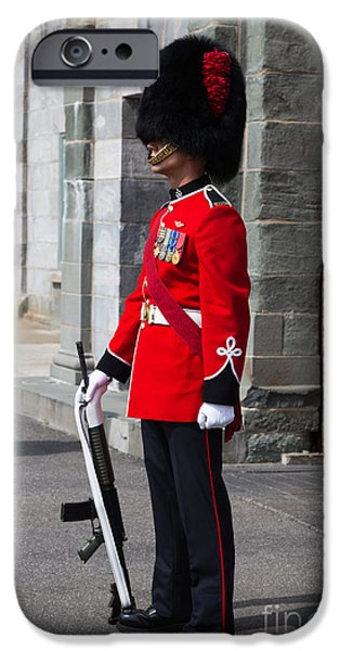 On Guard Quebec City IPhone Case by Edward Fielding
