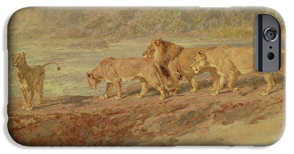 On The Bank Of An African River IPhone Case by Briton Riviere