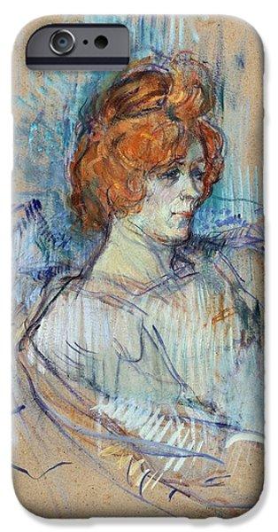 On The Stage IPhone Case by Henri de Toulouse Lautrec