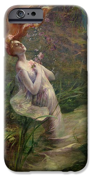 Ophelia Drowning IPhone Case by Paul Albert Steck