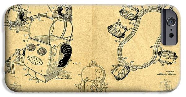 Original Patent For Robot Amusement Park Ride IPhone Case by Edward Fielding