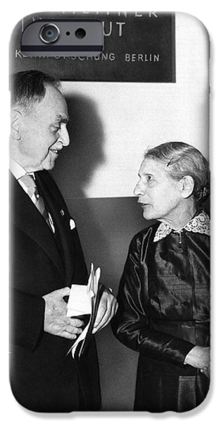Otto Hahn And Lise Meitner IPhone Case by Emilio Segre Visual Archives/american Institute Of Physics