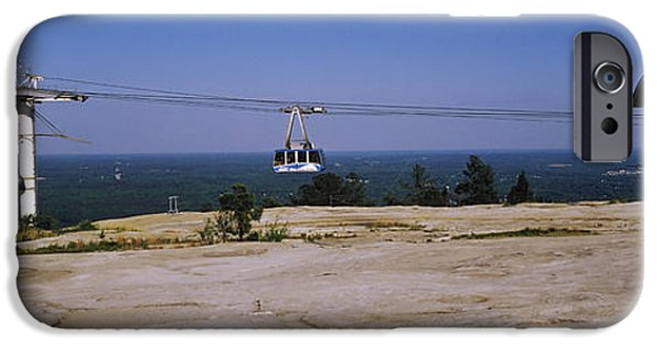 Overhead Cable Car On A Mountain, Stone IPhone Case by Panoramic Images