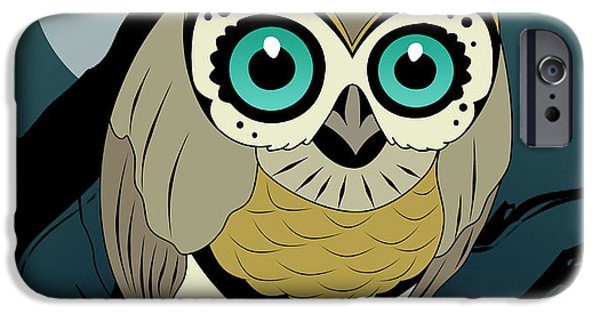 Owl 3 IPhone Case by Mark Ashkenazi