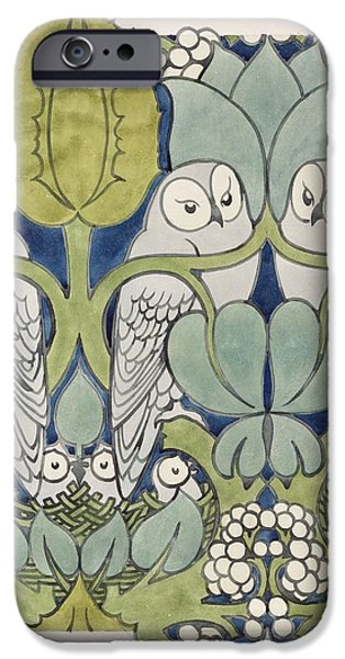 Owls, 1913 IPhone Case by Charles Francis Annesley Voysey