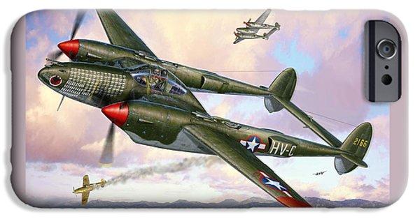 P-38f Lightning Sicilian Summer IPhone Case by Stu Shepherd