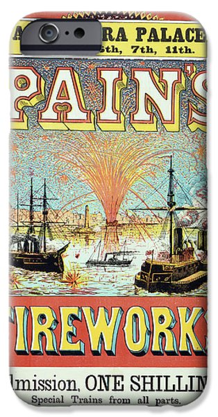 Pain's Fireworks IPhone Case by British Library
