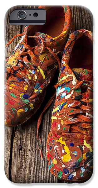 Painted Tennis Shoes IPhone Case by Garry Gay