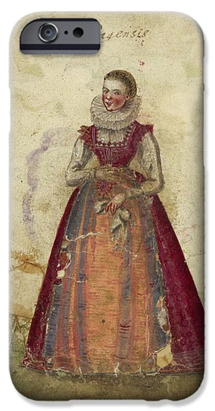 Painting Of A Woman IPhone Case by British Library