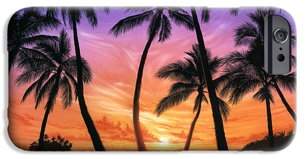 Palm Beach Sundown IPhone Case by Andrew Farley
