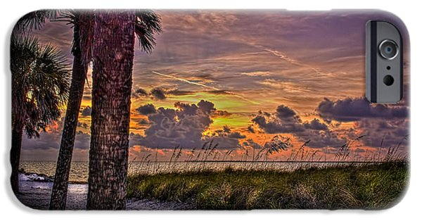 Palms Down To The Beach IPhone Case by Marvin Spates