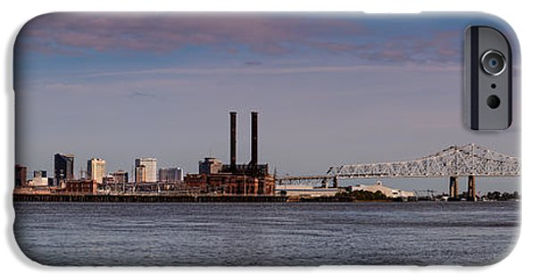 Panorama Of New Orleans And Crescent City Connection From Gretna - Louisiana IPhone Case by Silvio Ligutti