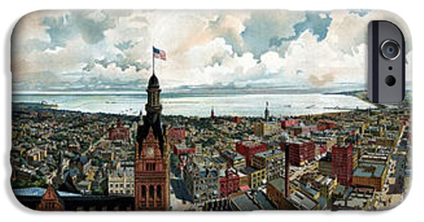 Panoramic View Of Milwaukee Wisconsin IPhone Case by War Is Hell Store