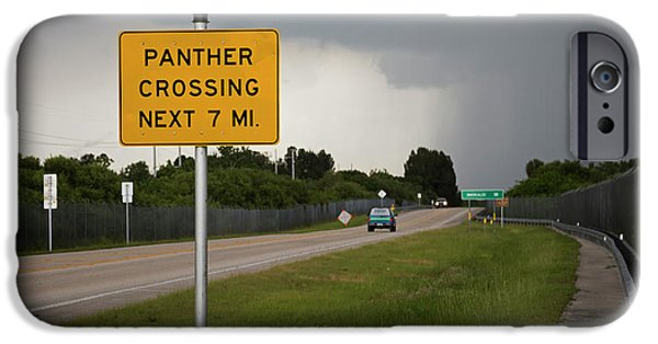 Panther Warning Sign IPhone 6s Case by Jim West