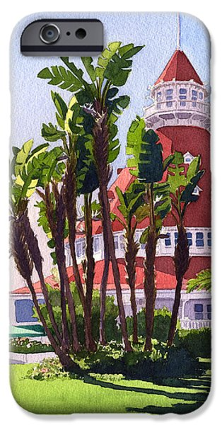Paradise At The Hotel Del Coronado IPhone Case by Mary Helmreich