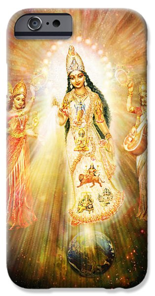 Parashakti Devi - The Great Goddess In Space IPhone Case by Ananda Vdovic