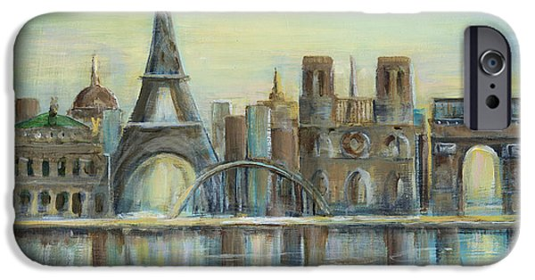 Paris Highlights IPhone Case by Marilyn Dunlap
