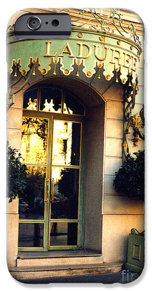 Paris Laduree French Bakery Patisserie - Champs Elysees Location IPhone Case by Kathy Fornal