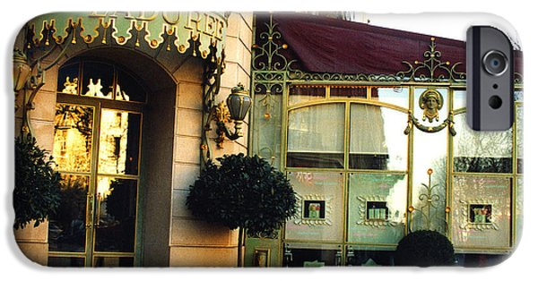 Paris Laduree Macaron French Bakery Patisserie Tea Shop - Champs Elysees - The Laduree Patisserie IPhone Case by Kathy Fornal