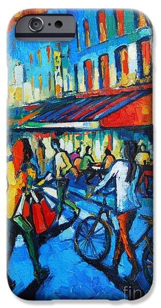 Parisian Cafe IPhone Case by Mona Edulesco