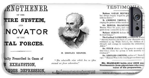 Patent Medicine Ad, 1893 IPhone Case by Granger