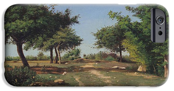 Path Through The Apples Trees IPhone Case by Antoine Chintreuil
