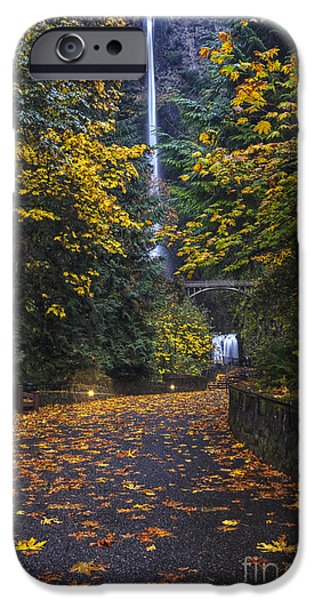 Path To Multnomah Falls IPhone Case by Mark Kiver