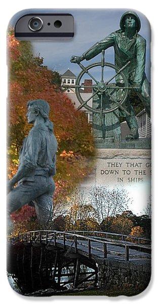 Patriotic Massachusetts IPhone Case by Jeff Folger