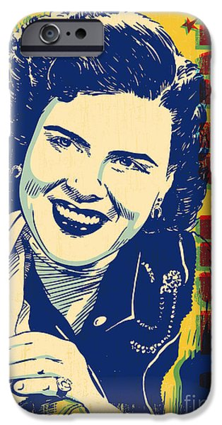 Patsy Cline Pop Art IPhone 6s Case by Jim Zahniser