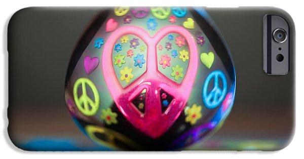 Peace Love Spoon IPhone Case by Aaron Aldrich
